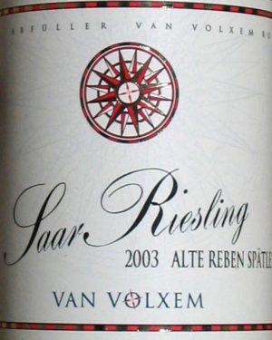 Saar Riesling alte Reben Spätlese Van Volxem-0
