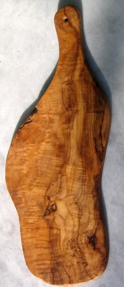 Olivenholz-Servierbrett mit Griff-1607
