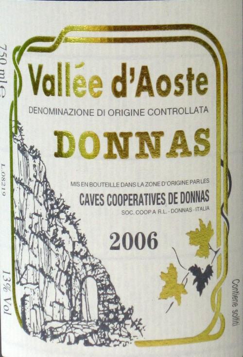 Vallée d´Aoste Donnas DOC