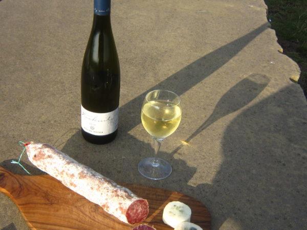 Wein von racknitz und Ahle Wurscht - exzellent !