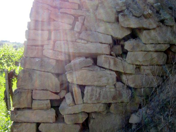 Trockenmauer - Aufbau
